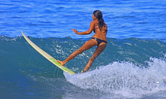 over the top (bluewavechris) Tags: ocean sea sun sexy ass water girl face sex female fun hawaii surf action surfer tan wave maui babe spray bikini thong surfboard hottie swell wahine surfergirl