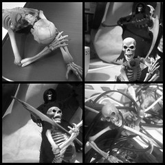 No Place for Lazy Undead (sir_winger) Tags: skeleton grim reaper lazy warrior revoltech