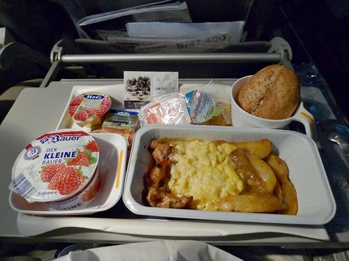 Lufthansa Economy Class Breakfast