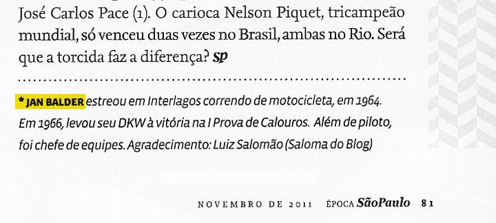 Época SP_Edição Nov_2001