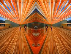 entre líneas de colores (Cani Mancebo) Tags: españa architecture spain arquitectura colours colores murcia auditorio cartagena lineas canimancebo palaciodecongresoselbatel