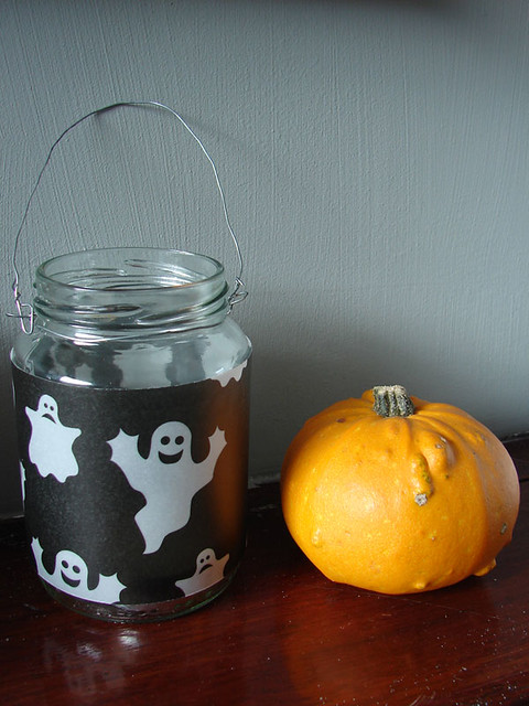 DIY: Last minute Halloween candle holders