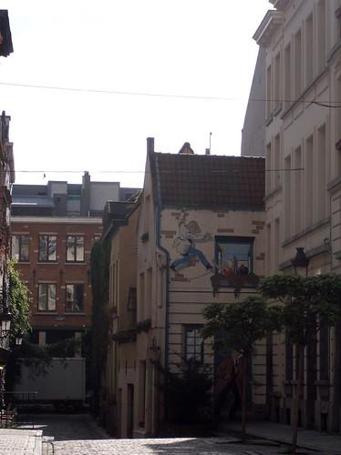 Brussels - comics murals