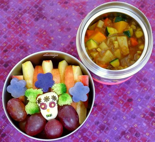 Curry Dia De Los Muertos Bento by sherimiya ♥