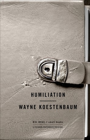 Cover of Humiliation. Scratched gray diary with dented lock.