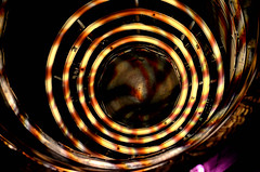 Circle of Confusion (Lea and Luna) Tags: abstract halloween plane circle lights virginia smithsonian nikon va nikkor chantilly airandspacemuseum stevenfudvarhazycenter musueum d5100 55300mmf45 ppposs