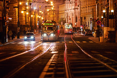 electri-city (Dennis_F) Tags: auto street city urban signs schilder car zeiss lights evening nightshot traffic prague sony capital tram prag praha tschechien citylights stadt electricity czechrepublic fullframe dslr bahn verkehr fkk lichter 135mm nachts elektrizitt abends ampeln eskrepublika strase 13518 a850 sonyalpha sonydslr flickrklubkarlsruhe vollformat strasenbahn cz135 zeiss135 dslra850 sonya850 sonyalpha850 alpha850 sony135 sonycz135