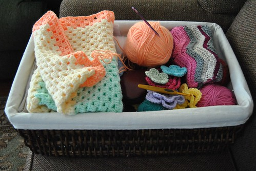 my crochet basket