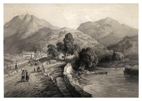024-Hermita de San Esteban y vista de Tolosa-Guipuzcoa-España artística y monumental..Tomo III- 1842-1850-Genaro Perez de Villa-Amil