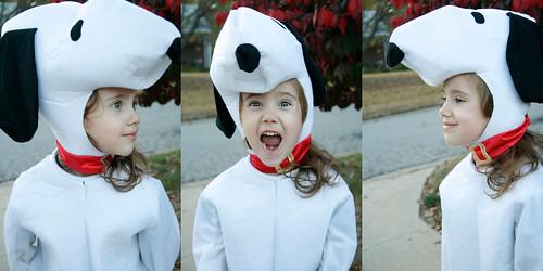Eliza as Snoopy, Halloween 2011