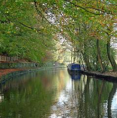 Autumn canal (jrw080578) Tags: autumn trees reflections boats canal saddleworth narrowboats huddersfieldnarrowcanal
