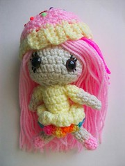 Cupcake girl doll (Mooy) Tags: pink girl toy doll crochet cupcake etsy amigurumi mooeyandfriends