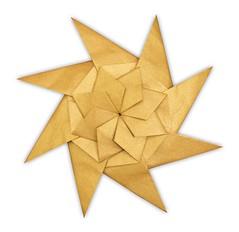 Star - Evan Zodl (EZ Origami) Tags: evan floral gold star origami foil tissue nicolas terry ez simple intermediate zodl 8pointed ezorigami