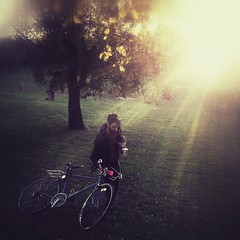 """""""The Biker Who Was Leaving"""" (Sion Fullana) Tags: park parque autumn trees light sunlight newyork painterly fall beauty bike bicycle brooklyn square poetry arboles prospectpark beautifullight squareformat flare otoo dreamy allrightsreserved sunflare iphone 500x500 pictorialism mobilephotography iphonephotography iphoneshots iphoneography iphoneographer sionfullana editedanduploadedoniphone throughthelensofaniphone iphone4s"""