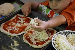 Making Pizza (Photo by Julie at The Adventures of Bear)