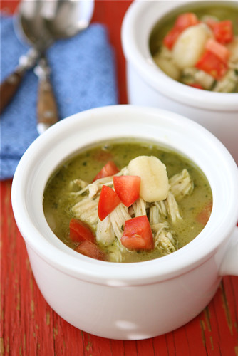 Roasted-Chicken-Soup-with Gnocchi-&-Pesto-Recipe-Cookin-Canuck