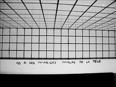 Maricas malas (Madrid) (Seigar) Tags: madrid door blackandwhite art blancoynegro halloween me television writing myself words tv puerta arte alma fear ghost feel bad toilet criminal crime soul violence televisin senses written afraid mala miedo bao act threat malas malo feelings violent nota blueboy amenaza temor malos sentimientos blueguy escrito theblueheart theblueheartbeat maricamala seigar