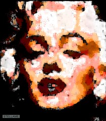 Marilyn on Black (StellaMe) Tags: stellame stellamecom photomosaic montage collage remix marilynmonroe normajean marilyn monroe face person famous celebrity celeb star