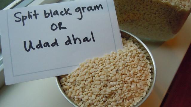 Split black gram lentils or udad dhal