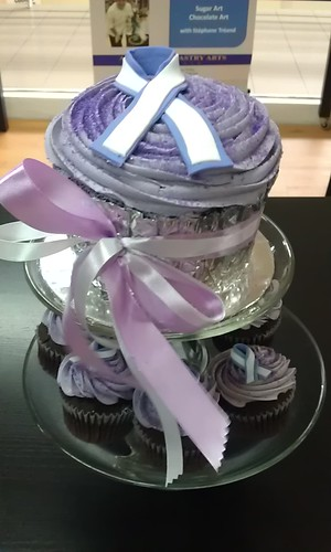 The giant cupcake which was auctioned off for RM200!