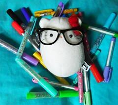 Hello Nerdy (hihihellokitty) Tags: hello cute glasses snowman colorful hey kitty plush pens nerdy cavey