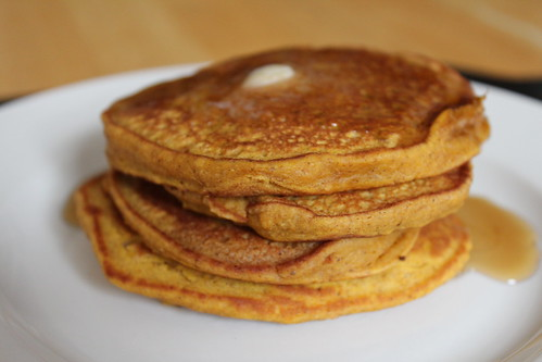 Piled Pumpkin Pie Pancakes