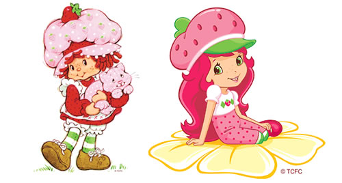 Original vs. Current Strawberry Shortcake
