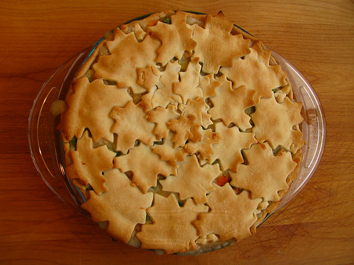 Chicken pot pie with leaf crust: April Sprinkles