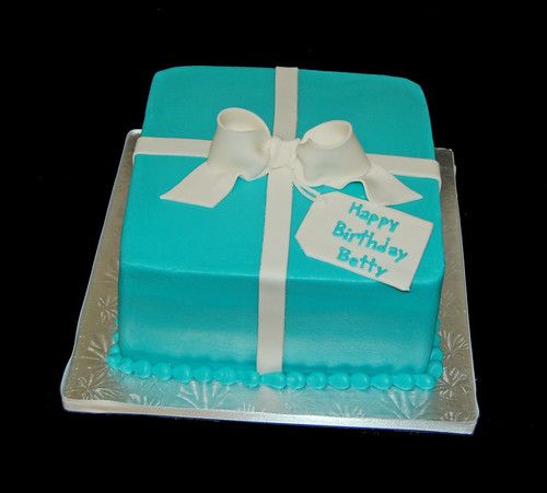 91st birthday cake - Tiffany box