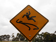 Kick Up Your Heels and Have a Great Time Here OR Be Careful - Slippery Surface