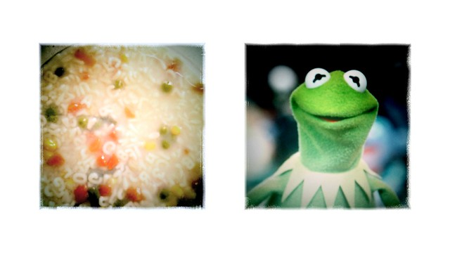 alphabet soup and kermit the frog