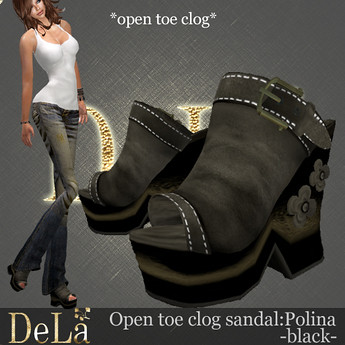 "=DeLa*= Sandal ""Polina"" Black, 400 lindens by Cherokeeh Asteria"