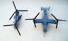 MV-22B Osprey size comparison (2) (Mad physicist) Tags: usmc lego osprey v22 tiltrotor seaknight ch46e mv22b
