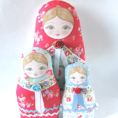 Anastacia Matryoshka dolls (Zouzou Design) Tags: babushka matryoshka clothdoll stackingdoll russiannestingdoll fabricdoll cathkidstonfabric