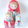 Anastacia Matryoshka dolls (Zouzou Design) Tags: babushka matryoshka clothdoll stackingdoll russiannestingdoll fabricdoll cathkidstonfabric
