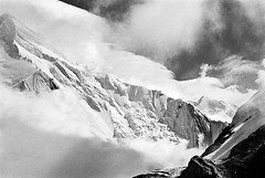 Khan Tengri. 7010m, Tien Shan (S_Peter) Tags: china bw ski film analog landscape blackwhite tian mountaineering sw analogue shan schwarzweiss kyrgyzstan pik alpin tien pobedy alpinism bergsteigen pobeda kirgistan kirgisien flextight
