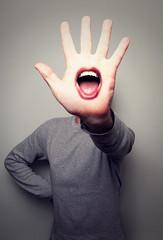 Talk to the hand (Paul O' Connell) Tags: ireland people selfportrait man male canon mouth fun photography bigmouth funny teeth fingers humor humour eire lips tounge mischief bizarre talktothehand dublincity onemanonly pauloconnell irelanda palmofyourhand irishphotographer nottalkingtoyou dublinrepublicofireland tellitwalkingbuddy gotsomthingtosay