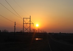 (MN transfer) Tags: road sunset farm powerlines wires land fields march17th2012