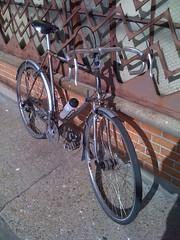 Touring bike (jimn) Tags: bicycle st brooklyn handmade steel touring lugged henryjames unpainted truetemper