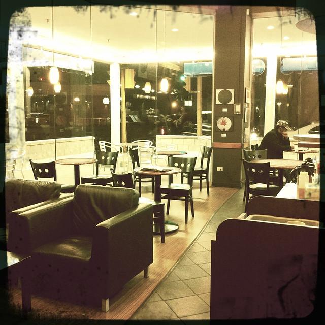 Friday night coffee shop