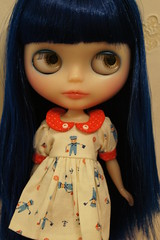 Indigo (MilkyWaySugar - moved to a new account) Tags: blue cat hair doll dress rice can sally ccc blythe sailor hop custom miss msr lawdeda