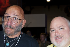 Sid Haig and I... (robert_rex_jackson) Tags: startrek halloween missionimpossible comicon thx1138 jamesbond houseof1000corpses jackiebrown coffy gunsmoke foxybrown thedevilsrejects diamondsareforever captainspaulding getsmart sidhaig galaxyofterror ccandcompany getchristylove
