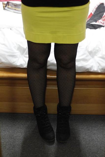 color block rouge jaune hema hm tenue du jour outfit ouchilistic