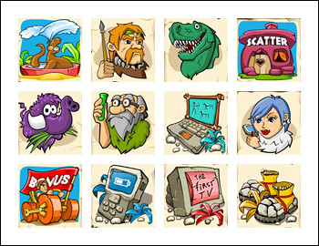 free Cool Stone Age slot game symbols