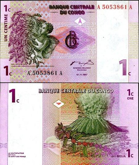1 Centime Kongo Dem.Rep. 1997, Pick 80