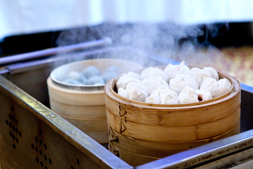 Fresh, steamy dim sum at the cart
