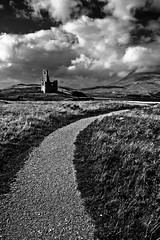 Ardvreck Castle | Scotland | Black and White (capturedcanvas.co.uk) Tags: uk chris white black history canon lens mono scotland highlands ruins paradise moody angle cloudy wide captured smith historic canvas explore printing loch 1740l assynt 450d