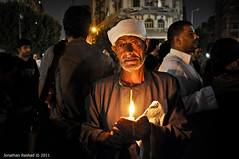 Candlelight vigil for Maspero martyrs. (Jonathan Rashad) Tags: light square army demo photography michael stand downtown silent jonathan massacre daniel military protest attack egypt demonstration cairo mina danial martyrs vigil genocide victims  tahrir mossad harb rashad talaat scaf jan25 maspero   maspiro   noscaf noscafcandle