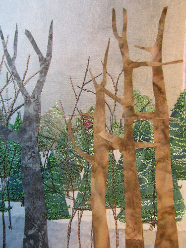 larger bare trees