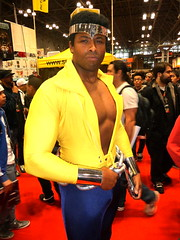 P1060408 (Randsom) Tags: newyorkcomiccon nycomiccon comicconvention 2011 cosplay costume javitscenter halloween gawker newyork nyc marvelcomics marvel superhero lukecage powerman muscles avengers blaxploitation handsome africanamerican